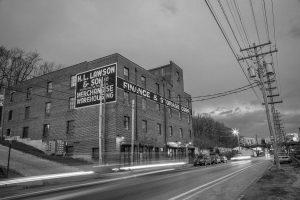 The Lawson Building East: Black and white picture of Lawson apartment