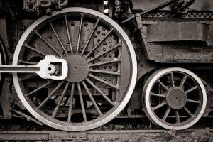 The Lawson Building East: Train Wheels